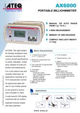 MODEL AX6000 | Przenośny mikroomomierz do badań ciągłości elektrycznej
