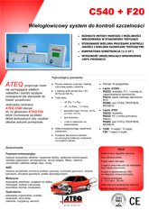 ATEQ C540 Z GŁOWICĄ F20 | Detektor nieszczelności