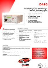 MODEL D420 | Przepływomierz