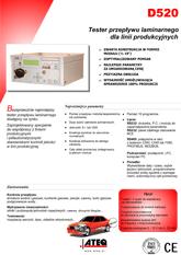 MODEL D520 | Przepływomierz
