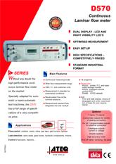 MODEL D570 | Przepływomierz