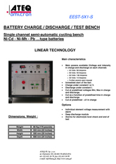 MODEL EEST-5x1-S | Półautomatyczna stacja testowa dla akumulatorów i baterii