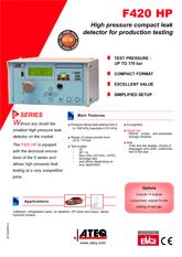 MODEL F420HP | Wysokociśnieniowy detektor nieszczelności