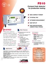 MODEL F510 | Detektor nieszczelności