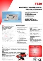 MODEL F520 | Detektor nieszczelności