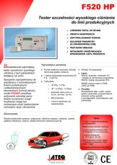 ATEQ F520HP | Wysokociśnieniowy detektor nieszczelności
