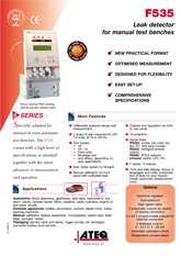 MODEL F535 | Detektor nieszczelności