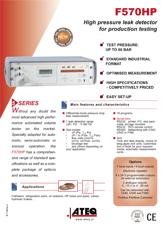 MODEL F570HP | Wysokociśnieniowy detektor nieszczelności