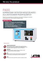 MODEL F600 | Detektor nieszczelności