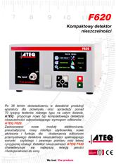 MODEL F620 | Detektor nieszczelności