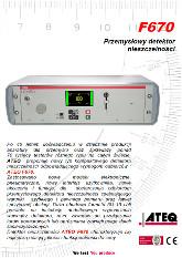 MODEL F670 | Detektor nieszczelności