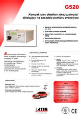MODEL G520 | Detektor nieszczelności