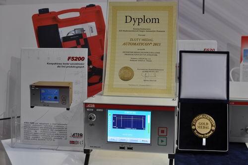 Złoty Medal dla detektora nieszczelności F5200 na Targach AUTOMATICON 2013