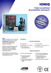 MODEL IONIQ | Elektryczny detektor nieszczelności wysokiej wydajności