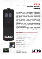 MODEL VT15 | System monitorowania ciśnienia w oponach samochodowych (T.P.M.S.)