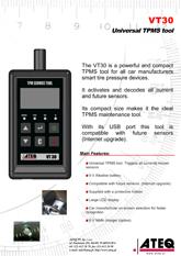 MODEL VT30 | System monitorowania ciśnienia w oponach samochodowych (T.P.M.S.)
