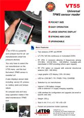 MODEL VT55 | System monitorowania ciśnienia w oponach samochodowych (T.P.M.S.)