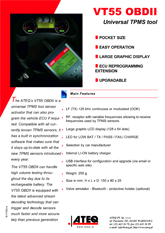 ATEQ VT55 OBDII | System monitorowania ciśnienia w oponach samochodowych (T.P.M.S.)
