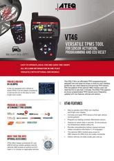 MODEL VT46 | System monitorowania ciśnienia w oponach samochodowych (T.P.M.S.)