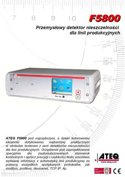 ATEQ F5800 | Detektor nieszczelności