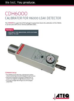 ATEQ CDH6000 | Kalibrator wodorowy