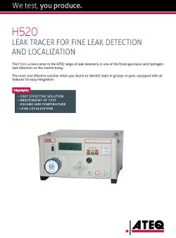 ATEQ H520 | Wodorowy detektor nieszczelności