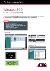 WINATEQ300 | Oprogramowanie pod Windows dla urządzeń ATEQ