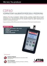 ATEQ CDF60 | Kompaktowy kalibrator przecieku i przepływu