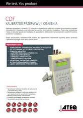 ATEQ CDF | Wielofunkcyjny kalibrator ciśnienia i przepływu