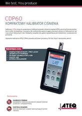 ATEQ CDP60 | Kompaktowy kalibrator ciśnienia