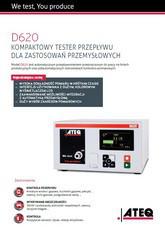 ATEQ D620 | Przepływomierz, tester reakcji na ciśnienie
