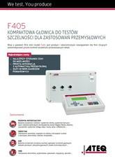 MODEL F405 | Detektor nieszczelności