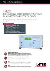 MODEL F420 | Detektor nieszczelności