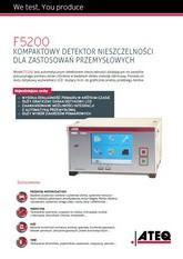 ATEQ F5200 | Detektor nieszczelności