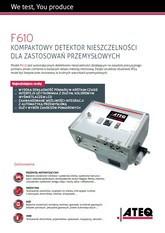 MODEL F610 | Detektor nieszczelności
